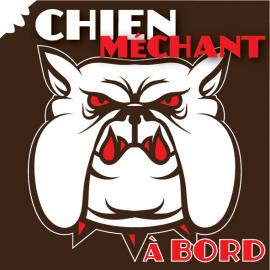 Sticker Chien méchant à bord